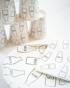 Milk Print Party Cups - Ellie and Piper