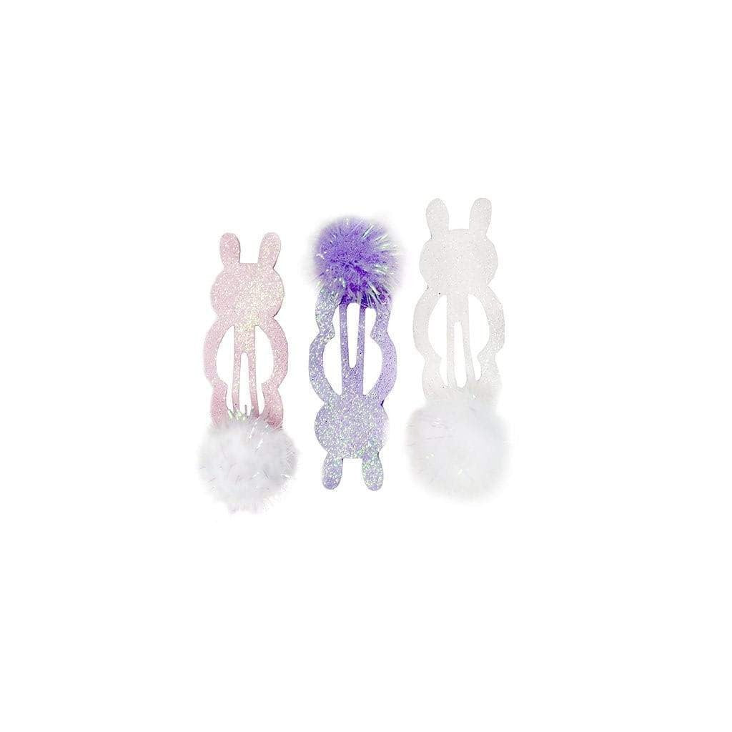 Purple + Pink Bunny Hair Clips (Set of 3) - Ellie and Piper