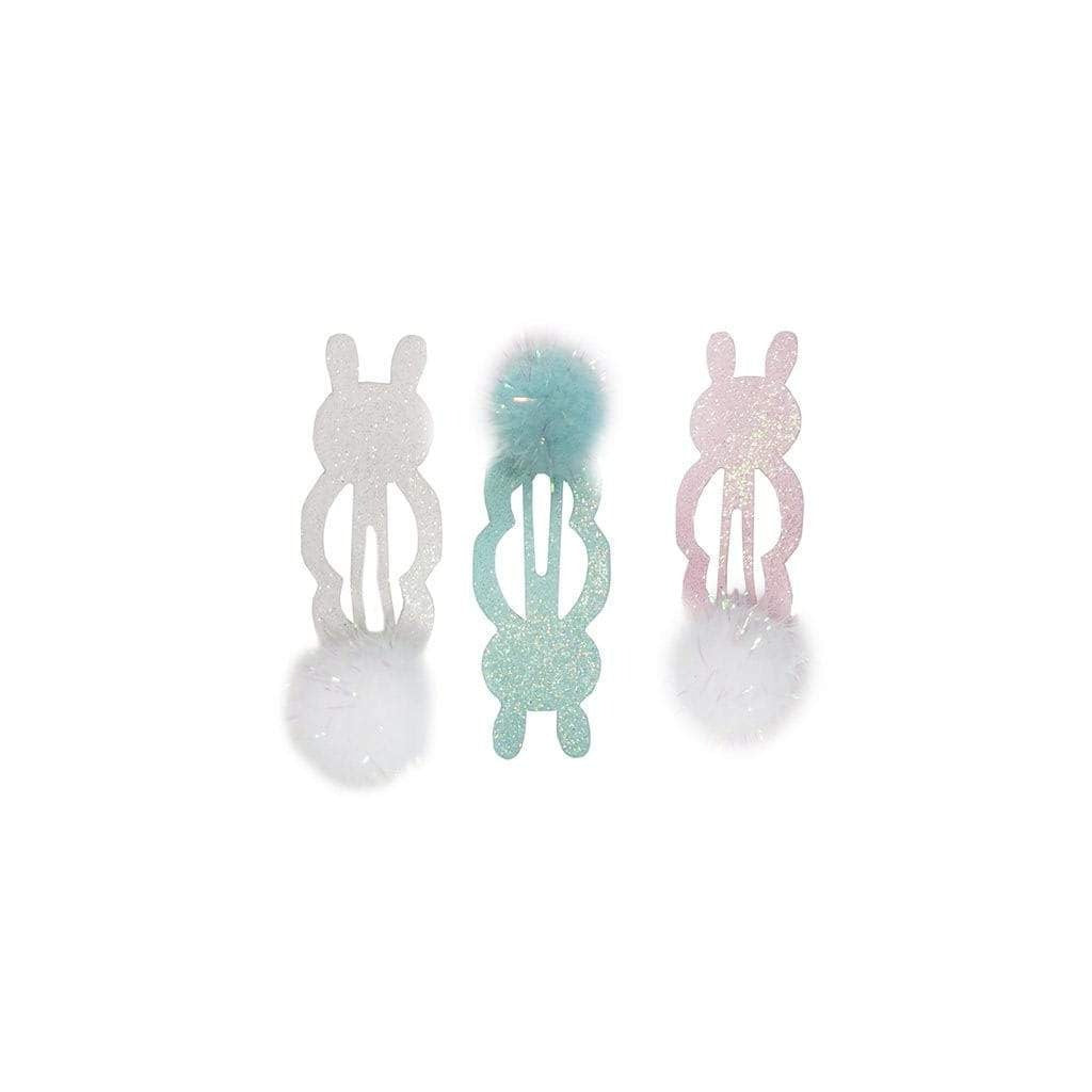 Mint + Pink Bunny Hair Clips (Set of 3) - Ellie and Piper