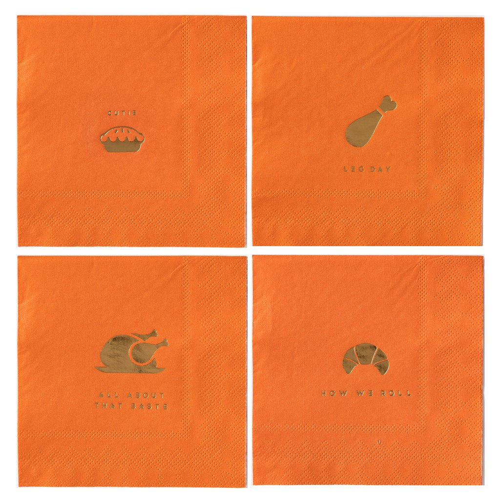 THANKSGIVING COCKTAIL NAPKINS