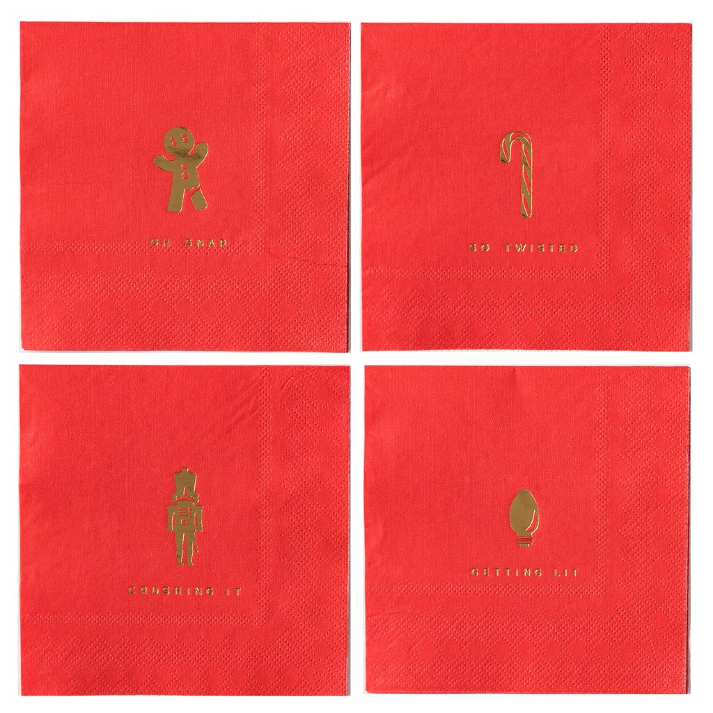 Holiday Cocktail Napkins Ellie & Piper Party Boutique