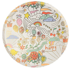 Happy Doodle Dinner Plates - Ellie and Piper