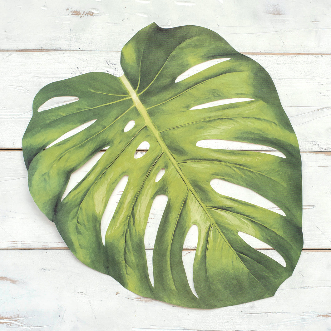 Monstera Leaf Paper Placemats - Ellie and Piper