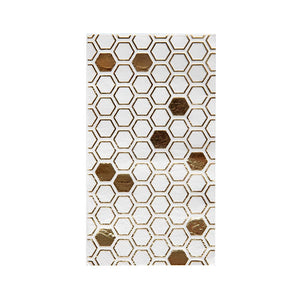 Hey Bae-Bee White and Gold Guest Napkins