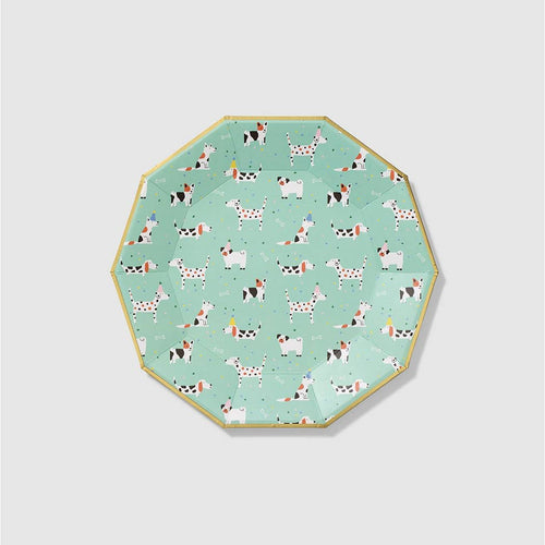 Hot Diggity Dog Large Paper Plates - Ellie and Piper