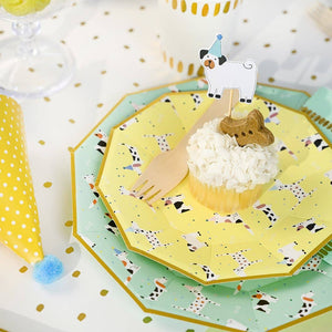Hot Diggity Dog Small Paper Plates - Ellie and Piper