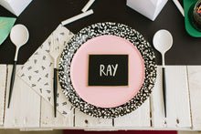 Black And White Letters Party Scramble Party Napkins - Ellie and Piper