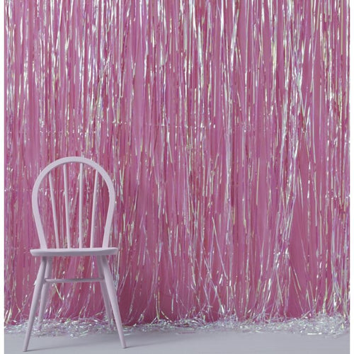 Iridescent Foil Fringe Curtain - Ellie and Piper