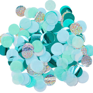 Blue and Mint Confetti - Ellie and Piper