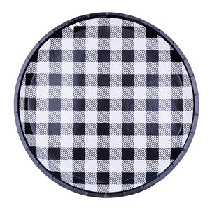 Black and White Gingham Paper Plates - Ellie and Piper