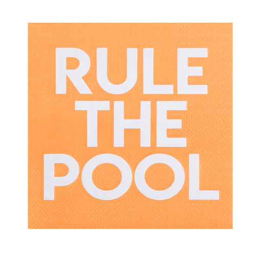 Rule the Pool Cocktail Napkins