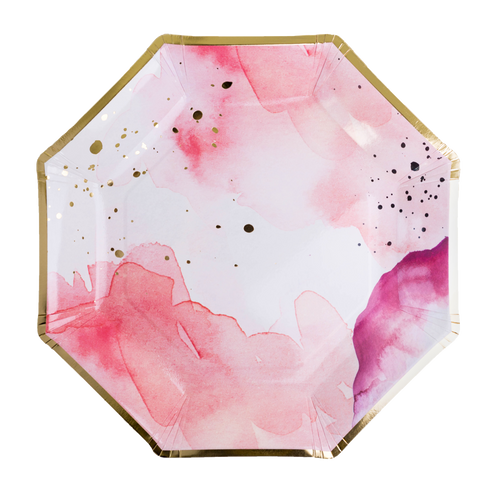 Pretty in Pink Watercolor Food Platter