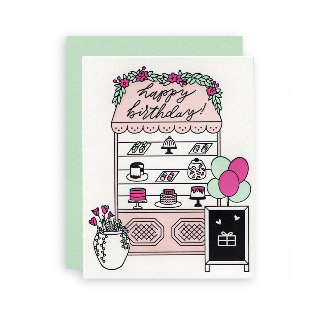 Happy Birthday Bakery Letterpress Card - Ellie and Piper