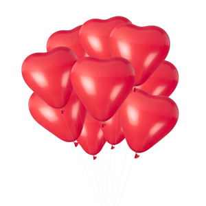 Red 'Kisses' Heart Balloon Bouquet - Ellie and Piper