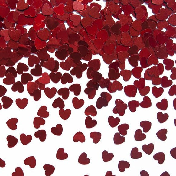 Red Confetti Hearts - Ellie and Piper