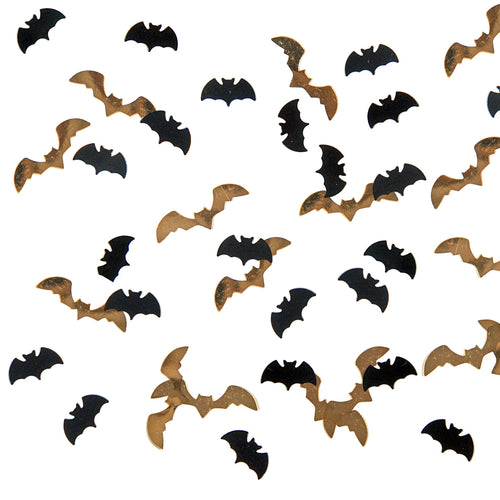 Black and Gold Bat Confetti - Ellie and Piper