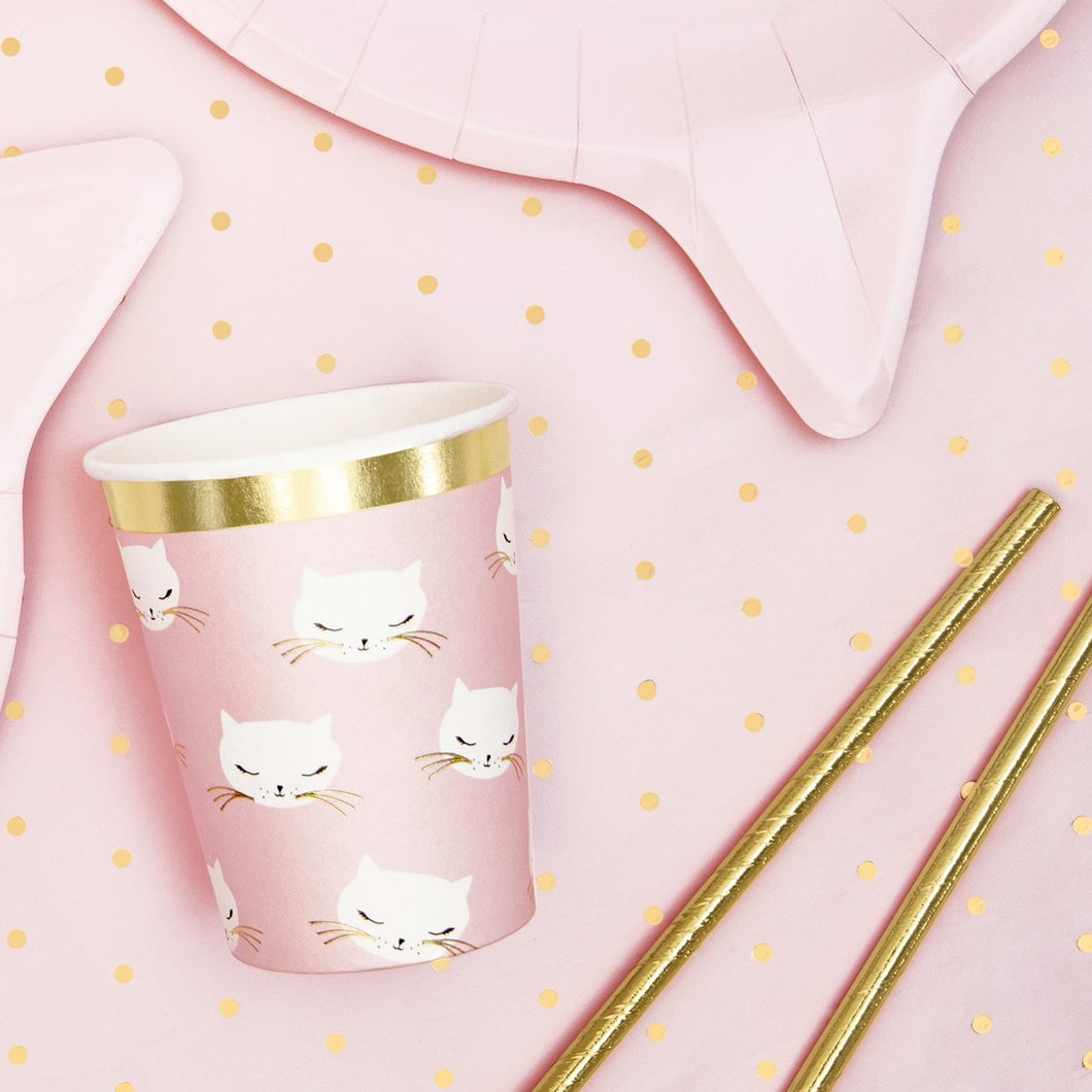 Pink Kitty Cat Print Cup - Ellie and Piper