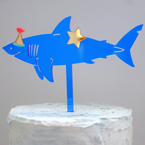 PARTY SHARK - Cake Topper