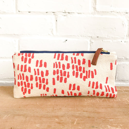Erin Flett Lipstick Rain Pencil Zipper Bag - Ellie and Piper