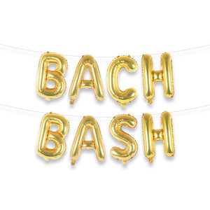"BACH BASH 16"" Gold Foil Letter Balloon Banner Kit - Ellie and Piper"