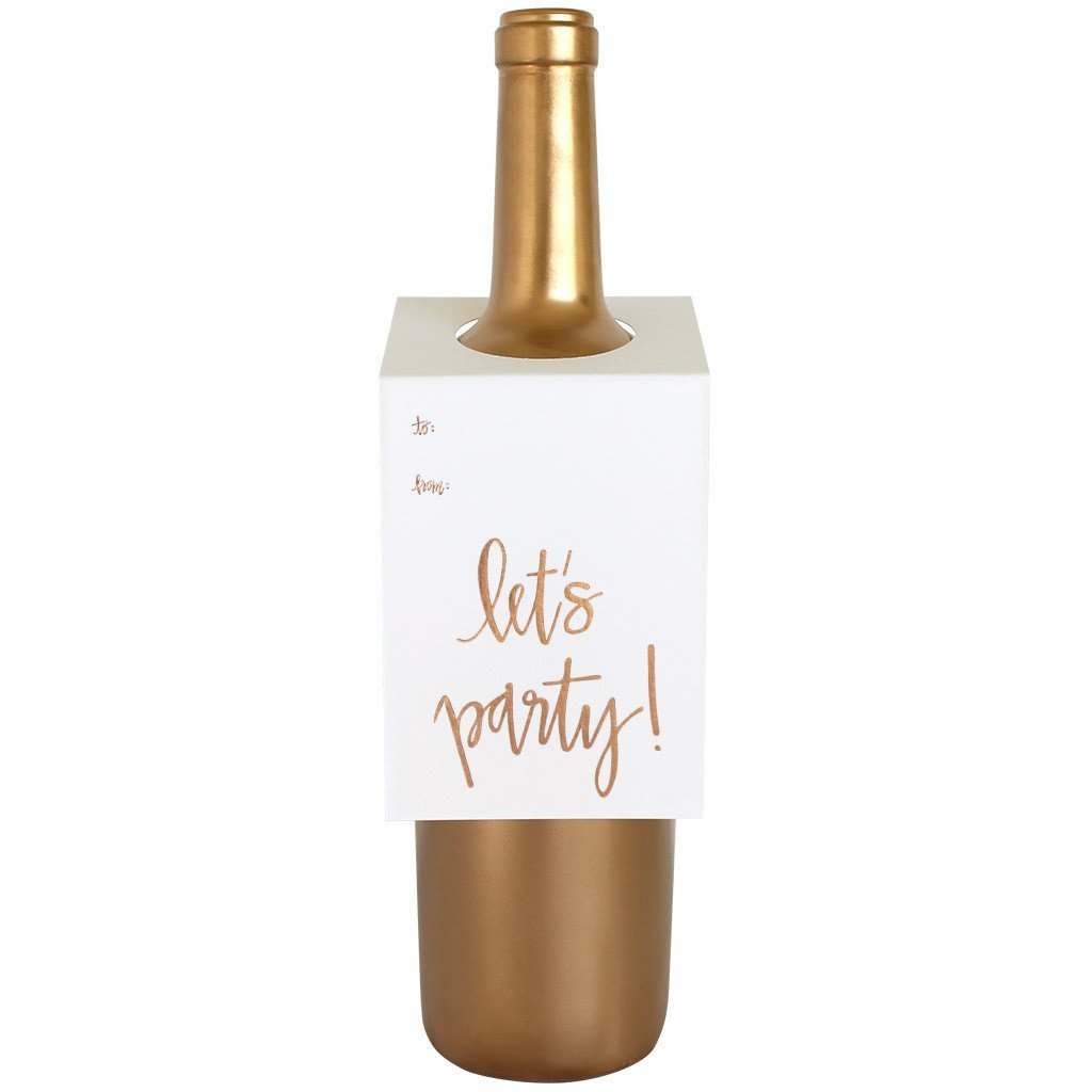 Let's Party Script Wine & Spirit Tag by Chez Gagne