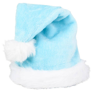Baby Blue Plush Santa Hat - Ellie and Piper