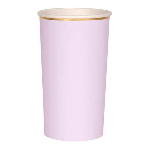 Lilac Tall Party Paper Cups