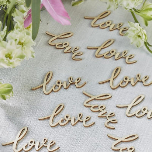 Wooden 'love' Confetti