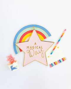 Magical Rainbow Fringe Napkins - Ellie and Piper