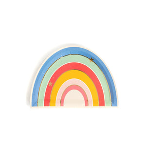 "Magical Rainbow Shaped 9"" Paper Plates - Ellie and Piper"