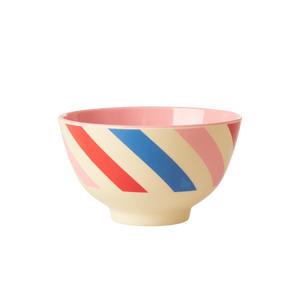Patriotic Candy Stripes Melamine Bowl - Small Size - Ellie and Piper