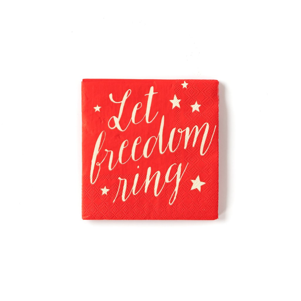 Let Freedom Ring Cocktail Napkins - Ellie and Piper Party Boutique
