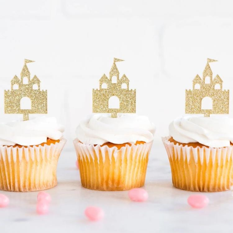 Princess Castle Cupcake Toppers - Ellie and Piper
