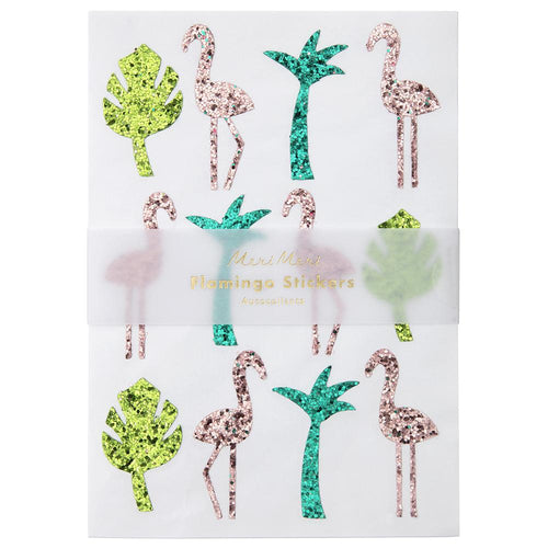 Glitter Flamingo Stickers - Ellie and Piper
