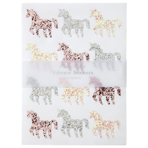 Glitter Unicorn Stickers Sheets - Ellie and Piper