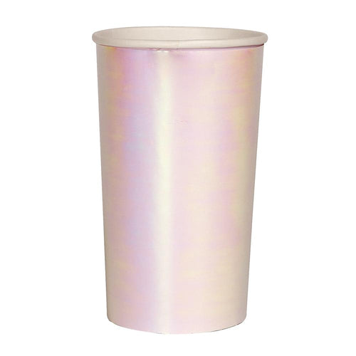 Iridescent Tall Party Paper Cups