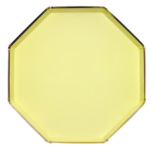 Pastel Yellow Paper Dinner Plates - Ellie and Piper