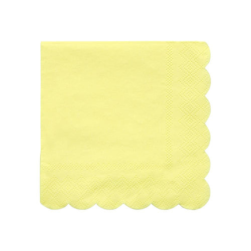 Pale Yellow Small Napkins