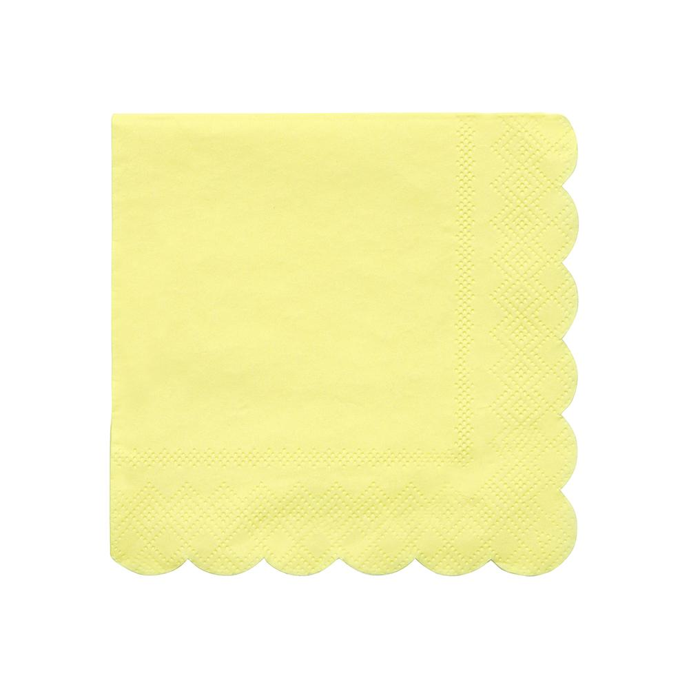 Pale Yellow Small Napkins - Ellie and Piper