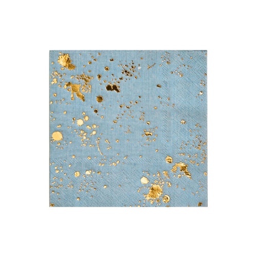 Malibu Blue Splash Cocktail Paper Napkins