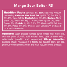 Mango Sour Belts Candy - Ellie and Piper