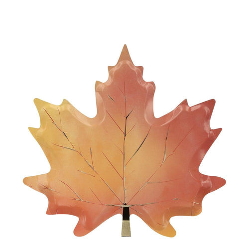 Maple Leaf Plates - Ellie and Piper