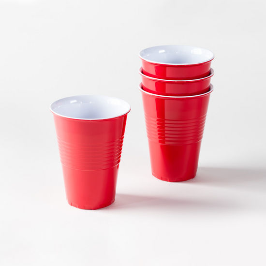 12oz Red Melamine Cup - Ellie and Piper