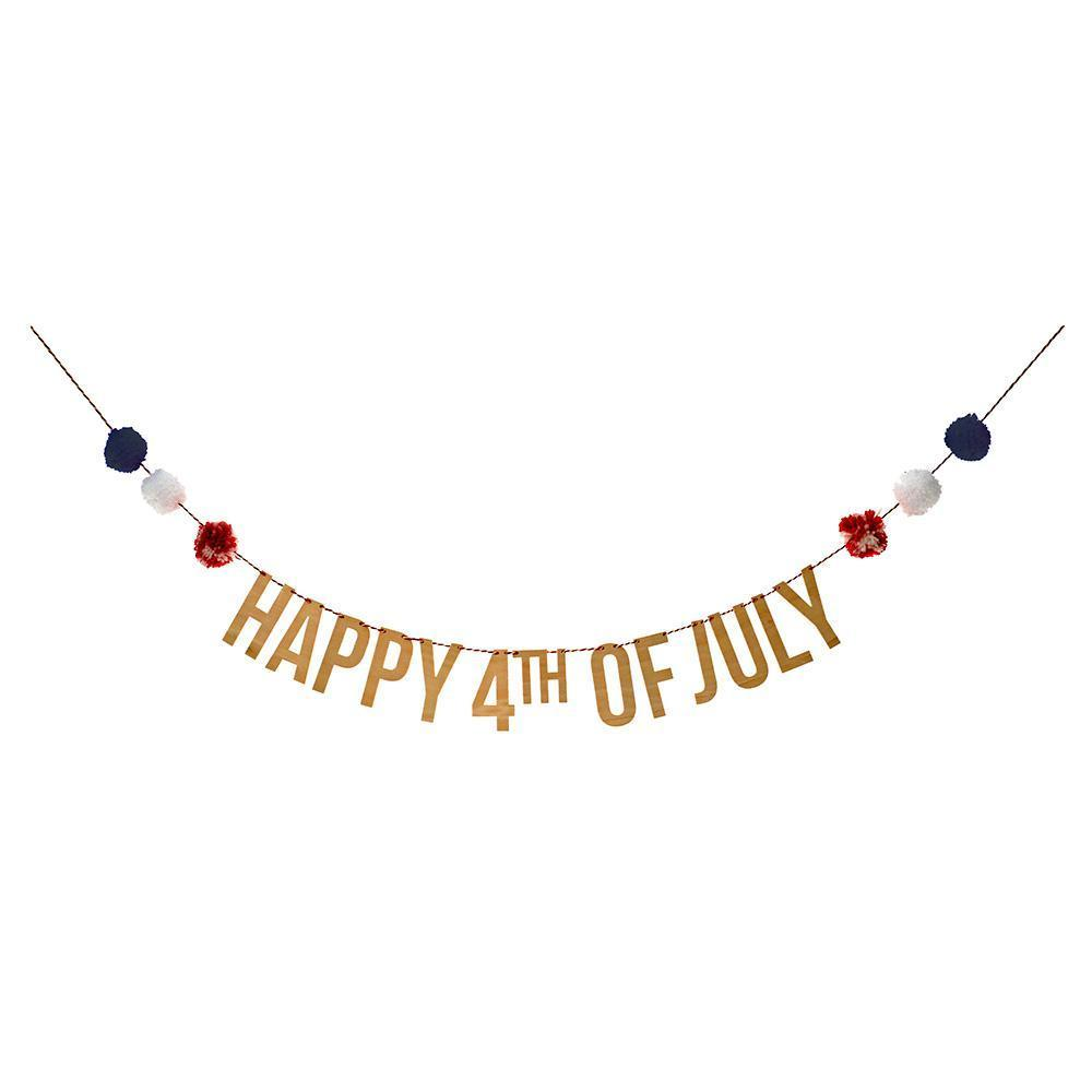4th of July Pompom Garland