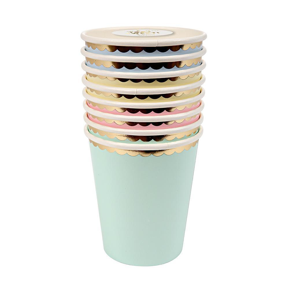 Assorted Pastel Colored Party Paper Cups - Ellie and Piper