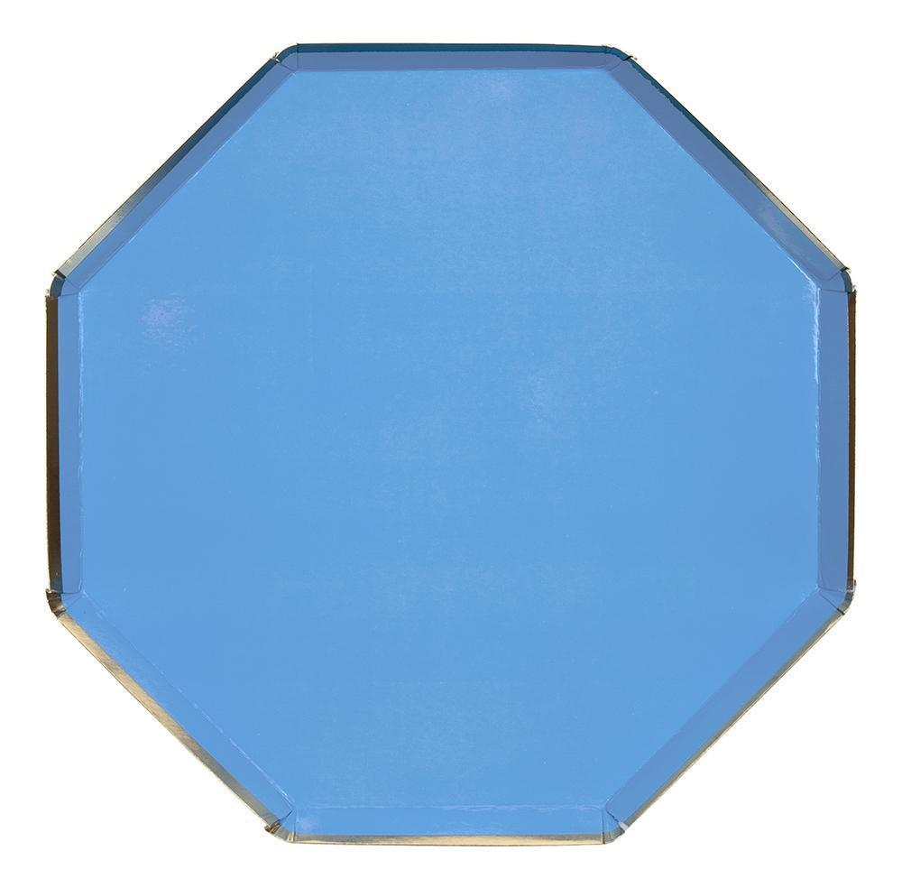 Bright Blue Paper Dinner Plates - Ellie and Piper