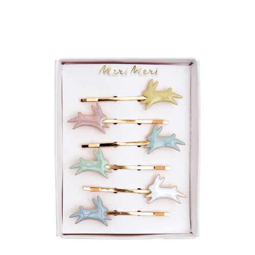 Bunny Enamel Hair Slides - Ellie and Piper