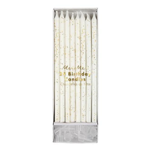 Gold Glitter Birthday Candles - Ellie and Piper