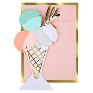 Ice Cream Honeycomb Happy Birthday Card - Ellie and Piper