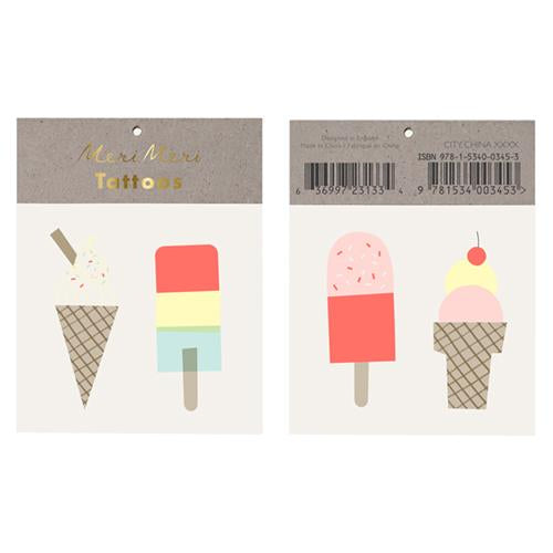 Ice Creams Temporary Tattoos